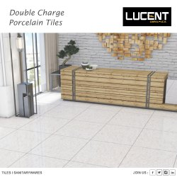 Ceramic Lucent Double Charge Tiles, Thickness: 8 - 10 mm