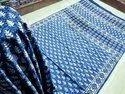 Hand block print sanganri saree
