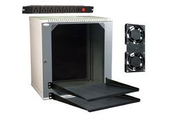 Mass Rack Wall Mount Rack 12U 550x450 with Accessories