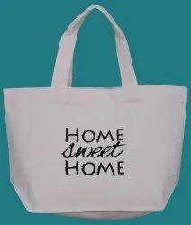 Natural D Shape Canvas Bag, Size/Dimension: 30x20x10 Cms