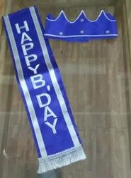 Blue Birthday Crown and Ribbon