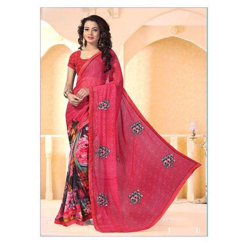 767cb97931 Party Wear Stylish Ladies Chiffon Saree, With Blouse Piece, Rs 999 ...