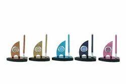 ZEGAR Custom-Made Ship Design Desktop Clock And Pen Holder, for Office