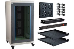 D-Link 12 Wall Mount Rack Loded