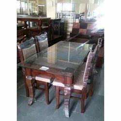Designer Furniture Wooden, Glass Dining Room Table