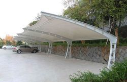 Sioen PVC Coated Car Parking Canopy