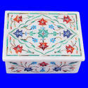 White Marble Luxury Jewelry Box