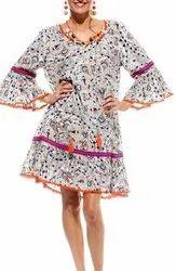 Vintage Floral Print Tunics Dress