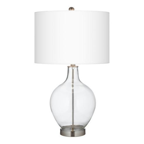 Clear glass lamp