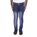Mens Blue Stretchable Faded Jeans