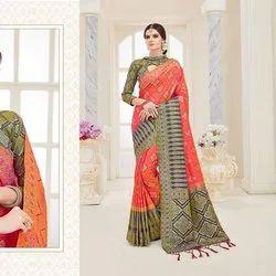 Glamorous Cotton Silk Saree