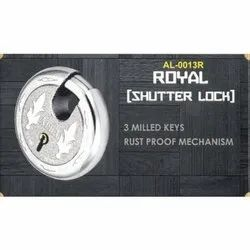 Stainless Steel AL-0013R Shutter Door Lock, For Shutters, Chrome