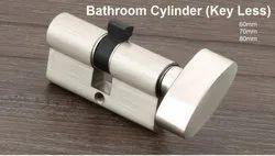 SAGO Brass Bathroom Cylinder(Key Less), Size: 60mm
