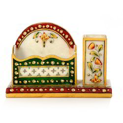 Marble Pen Stand n Visiting Card Holder 381