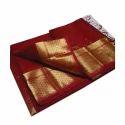 Maroon Handloom Cotton Silk Saree