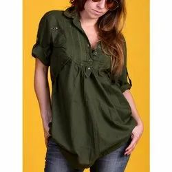 Cotton Ladies Shirt Top