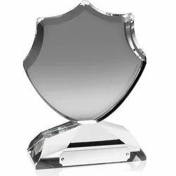glass Silver shield