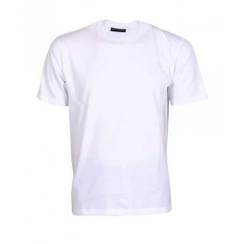 White Round Neck Customized Promotional T-Shirt