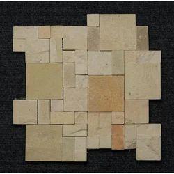 Teak Sandstone Roman Mosaic, Size: 300 Mmx300 Mm