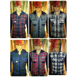 Mens Checked Party Wear Shirts
