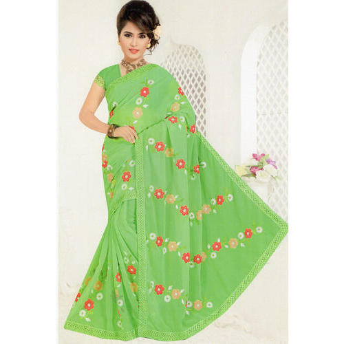 Cotton Casual Wear Ladies Saree, Length: 6.3 m