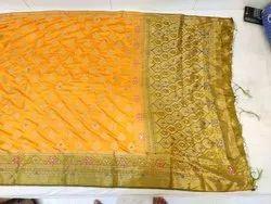 Zari Bridal Wear Mysore Silk Sarees with Blouse Piece