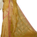 Party Wear Ladies Linen Saree