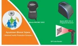 Ayushmaan Bharat Mantra Biometric Devices Kit And Qr Code Scanner- Fingerprint Scanner Iris Scanner