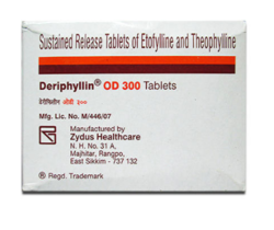 Sustained Release of Etofylline and Theophylline