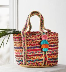 Jute Tote with Tassels
