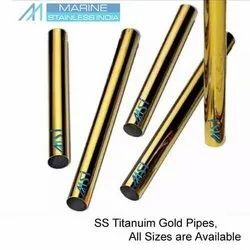 Stainless Steel Golden Pipes