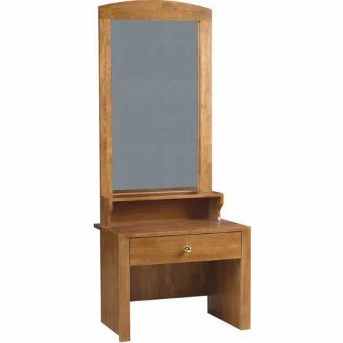 Natural , Wallnut Standard Single Drawer Dressing Table   Marshal,  Size/Dimension: 610