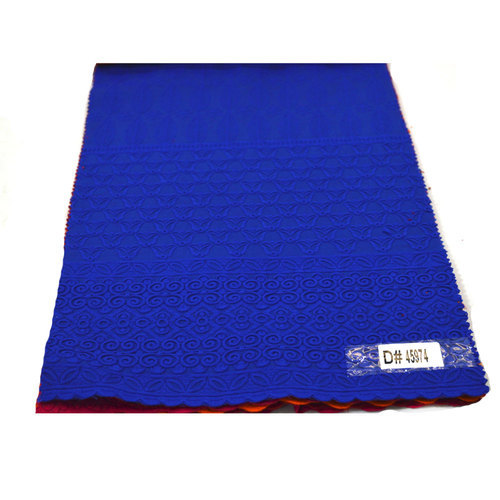 Blue Chikan Work Fancy Woven Fabric