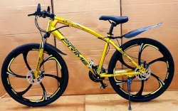 Gold Color 21 Gear MTB Cycle