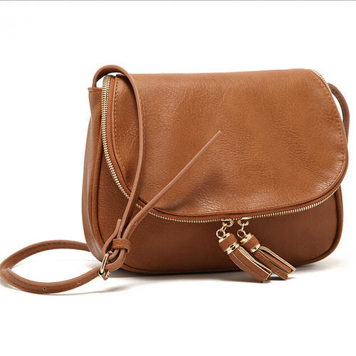 Ladies Brown Leather Side Bag 299b4e951aa1