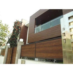 Brown Plain IPE Wood Rectangular Wall Cladding, Thickness: 1 to 2 mm