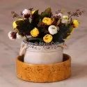 5 Yellow Sandstone Ornament Round Tray