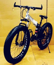 BMW Black Fat Tyre Foldable Cycle
