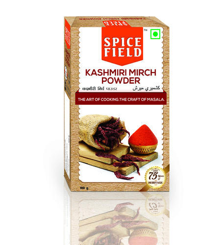 Mild Hot Taste Kashmiri Mirch Powder, Packaging Size: 100g & 500g