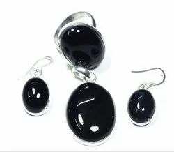 Black Onyx 925 Sterling Silver Rings and Earrings