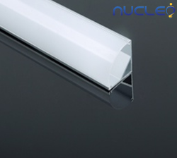 15mm Corner LED Aluminum Profile For Edge Lighting