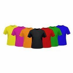 Cotton Round Men''s Smooth Texture Plain T Shirts