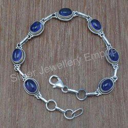 Amethyst Gemstone 925 Sterling Silver Handmade Bracelet