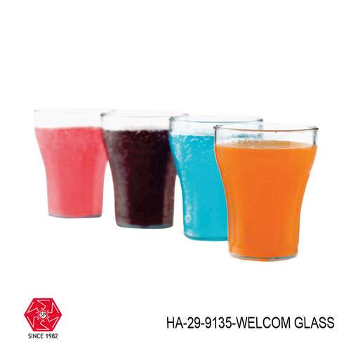 Transparent Juice Glass Unbreakable Stylish Glass Set Abs Poly Carbonate Plastic-ha-29, Size: 250 mL