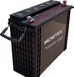 Microtex Lead Acid Battery Tubular Gel VRLA 12 Volt Mono-Block Battery, Warranty: 1 year, Capacity: 40Ah to 200Ah