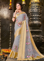 Organza Festival Wear Embroidery Work Sarees