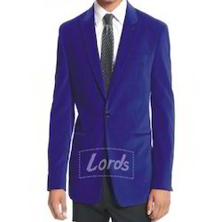 Lords Men's Velvet Royal Blue Blazer