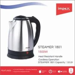 Stainless Steel Electric Kettle (Steamer 1801)