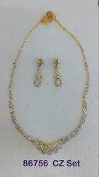 Cz Ad Necklace Set (Avbl On Approval)