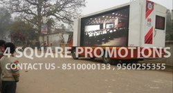 Big LED Screen Truck Video Van Hire, For Outdoor, Hydraulic
